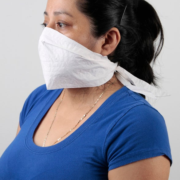 White Disposable One-Time Use Facemask