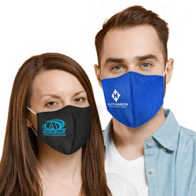 Form Fitted Cupped Cotton Face Mask with Filter Insert Pocket (Unisex)