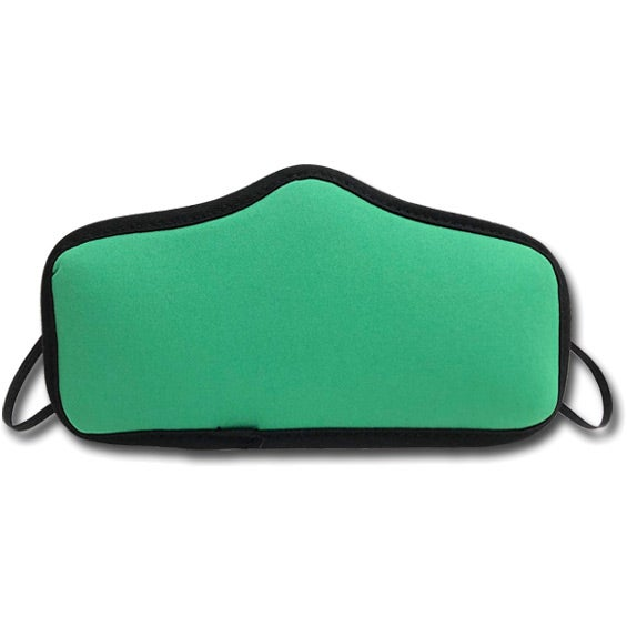 Kelly Green Medium Seamless Multi-Ply Face Mask with Elastic Loops