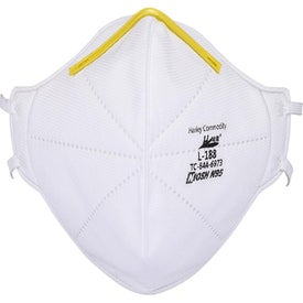 N95 Folded Shape Face Masks (White)