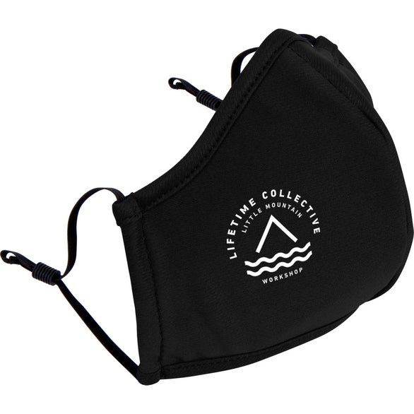 Black Reusable Athleisure Face Mask