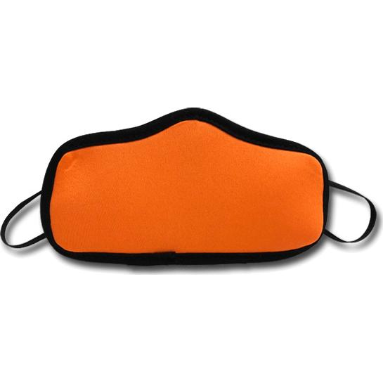 Neon Orange Small Seamless Multi-Ply Face Mask with Elastic Loops