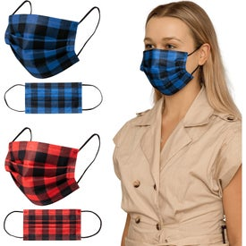 Shield V Plaid Disposable Face Masks