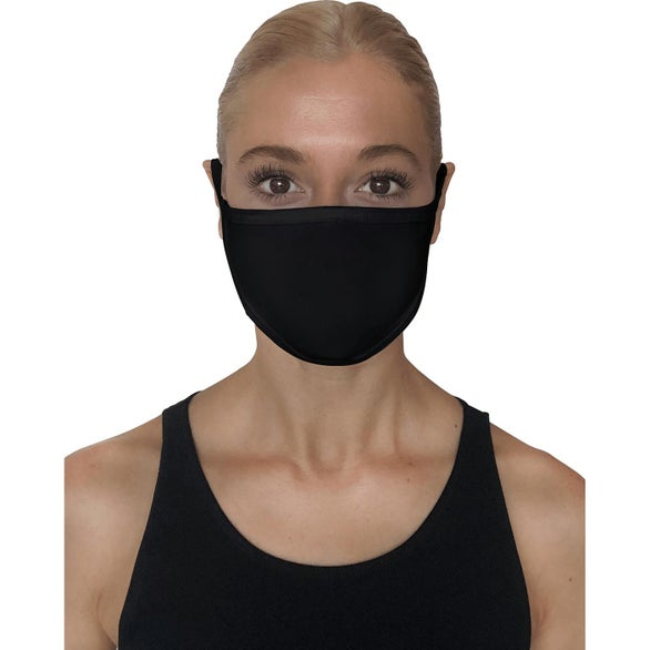 Black StarTee Unisex 2-Layer Cotton Face Mask