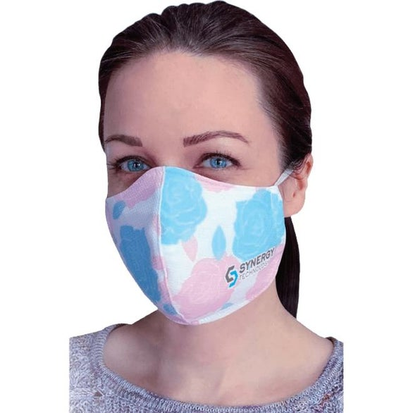 White Triple Layer Face Mask - Over Ear