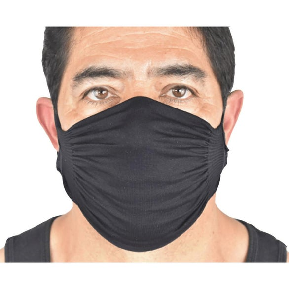 Black US Blanks Adult Double Layer Nylon Face Mask