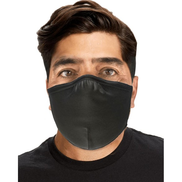 Black Reusable Anti-Microbial Face Mask
