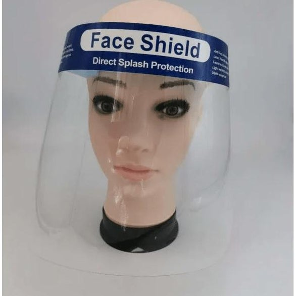 Clear Direct Splash Protection Face Shield