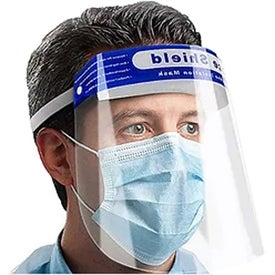 Protective Face Shields (Ink Imprint, 1 Location, Clear/Blue)