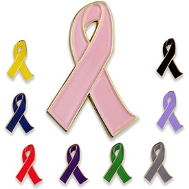 2D Awareness Ribbon Lapel Pin