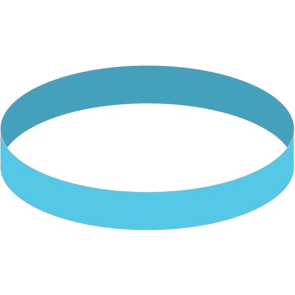 Bright Blue Color Fill Silicone Wristband