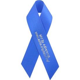 "Folded Awareness Ribbon with Pin (3 1/2"" x 5/8"")"