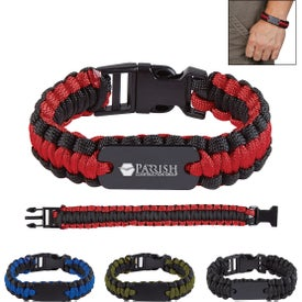 Paracord Bracelets with Metal Plate (Unisex)