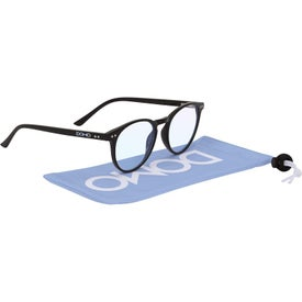 Quinn Blue Blocker Glasses with Microfiber Pouch