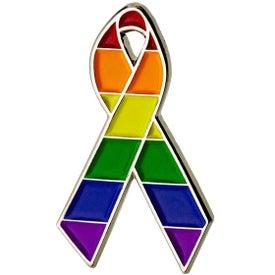 Rainbow Awareness Ribbon Lapel Pin