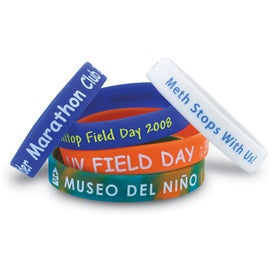 "Silicone Wristband (Unisex, 0.5"" x 8"", Ink Imprint, No Quick Ship)"