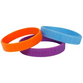 "Silicone Wristband (Unisex, 0.5"" x 2.546"" Dia., Debossed, No Quick Ship)"