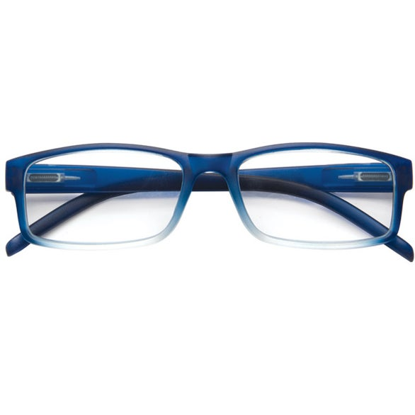 Blue Soft Feel Reading Glasses with Matching Case