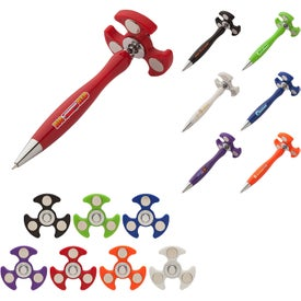 Hover Fidget Spinner Plunge-Action Pen