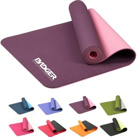 "Double Color TPE Yoga Mat (0.24"" Thick)"