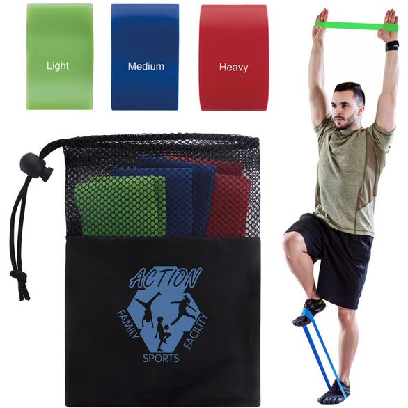 Black Exercise Resistance Bands Set