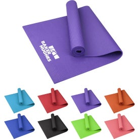 "Large PVC Fitness Yoga Mat (0.24"" Thick)"