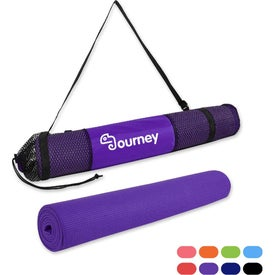 "PVC Yoga Mat and Carrying Bag (0.24"" Thick)"