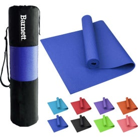 "PVC Yoga Mat with Carrying Bag (0.24"" Thick)"