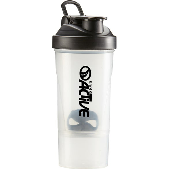 Frosted / Black Shake-It Compartment Bottle
