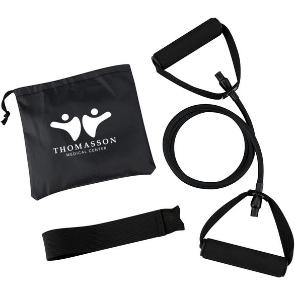 Black Yoga Stretch Band in Carry Pouch