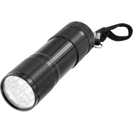 9 LED Metal Flashlight for Marketing