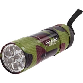 9 LED Metal Flashlight Printed with Your Logo