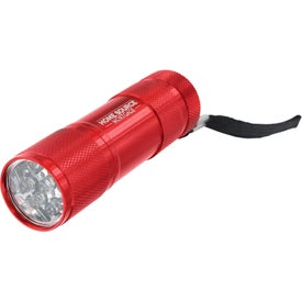 9 LED Metal Flashlight for Advertising