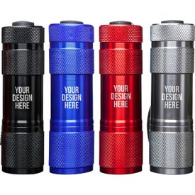 9 LED Metal Flashlight with Your Slogan