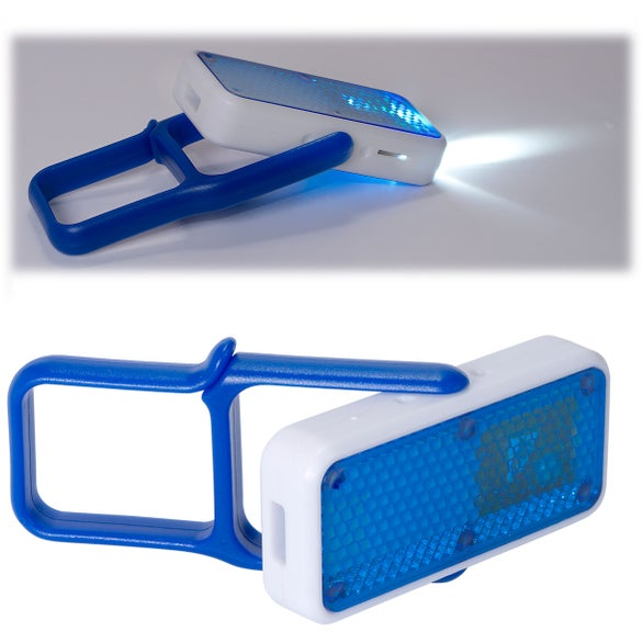 Blue / White Carabiner Whistle Safety Light