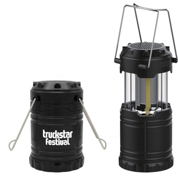 Black COB Lantern with Bluetooth Speaker