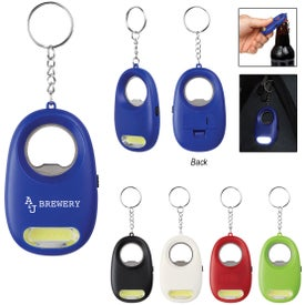 COB Light Key Chains with Bottle Opener