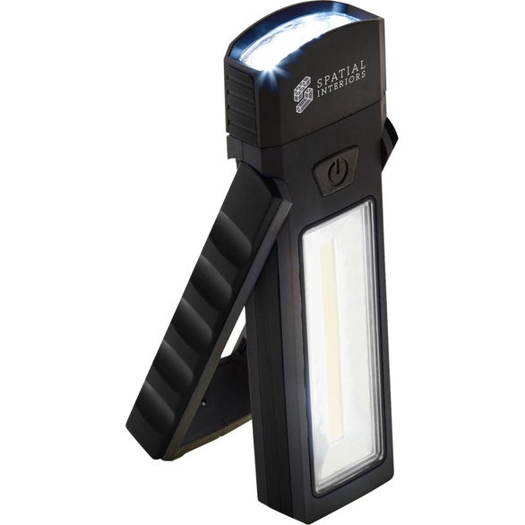 Black COB Magnetic Worklight with Torch and Stand