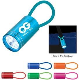 Glow In The Dark Aluminum LED Flashlight