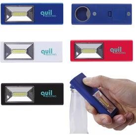 Magnet COB Flashlight with Bottle Opener