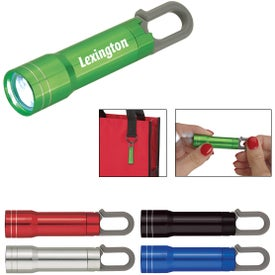 Mini Aluminum Flashlight with Carabiner