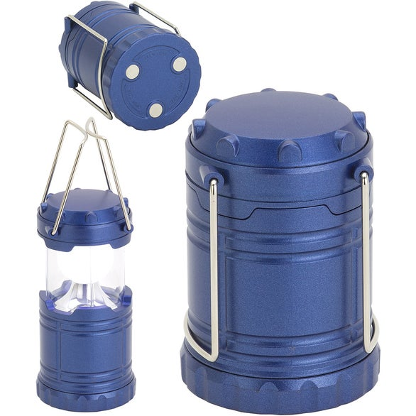Blue Mini Retro Pop Up LED Lantern