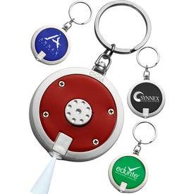 Round LED Keychain