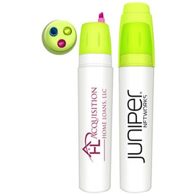 Bullet Twist Action 3 in 1 Fluorescent Highlighter
