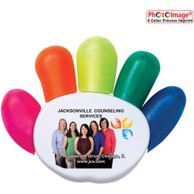Plastic High Five Highlighters