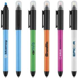 Pastel Power Highlighter Ballpoint Pen Printed with Your Logo