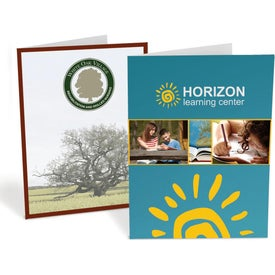 Standard Presentation Folders (Full Color Logo, 1 Location)