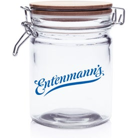Candy Jar with Hinged Wood Lid (22 Oz.)
