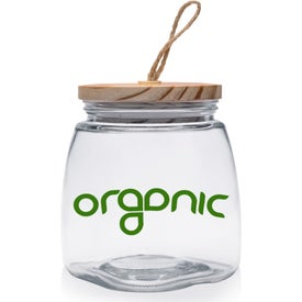 Glass Candy Jar with Suction Wooden Lid (64 Oz.)