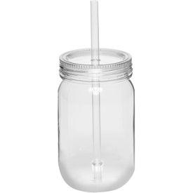 Plastic Mason Jar with Straw